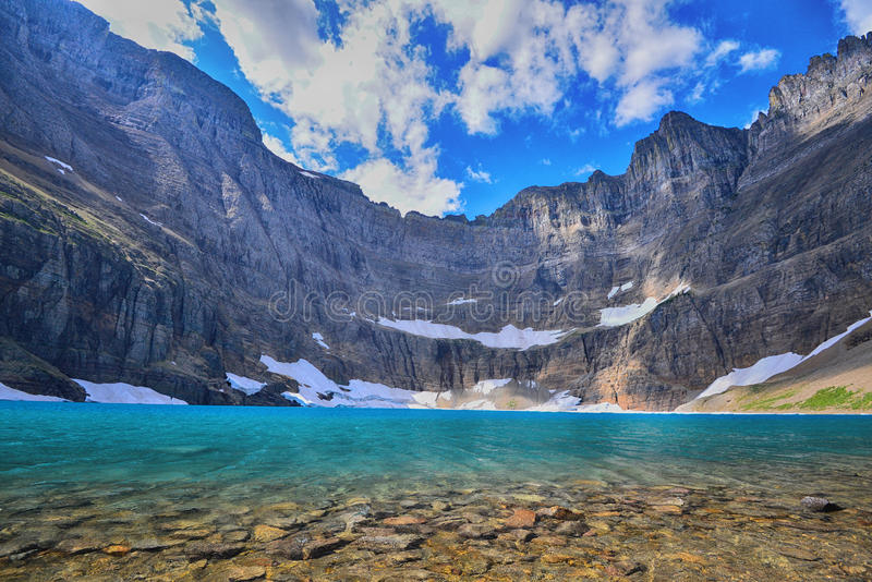 Lago iceberg, parque nacional de geleira fotos de stock