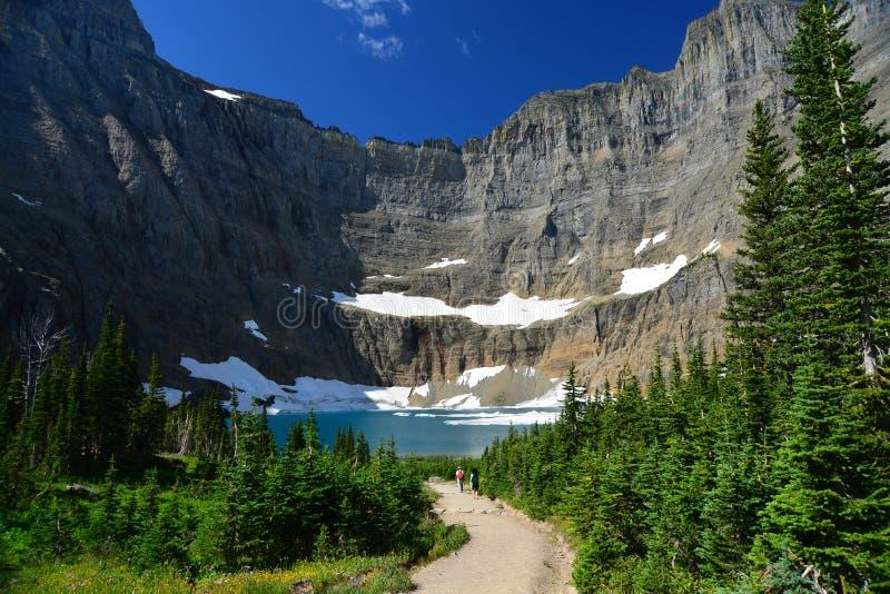 Lago iceberg, parque nacional de geleira imagens de stock royalty free
