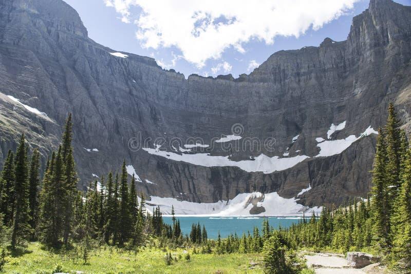 Lago iceberg - parque nacional de geleira fotos de stock royalty free