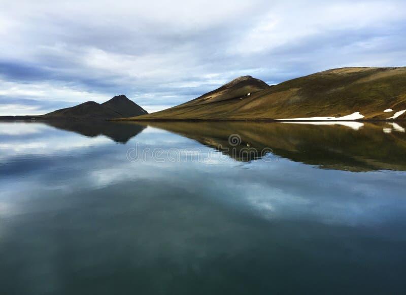 Lago iceland di estate immagine stock