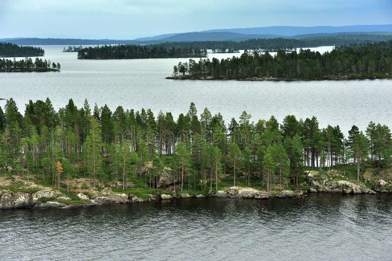 Lago Inari, Finlandia imagen de archivo libre de regalías