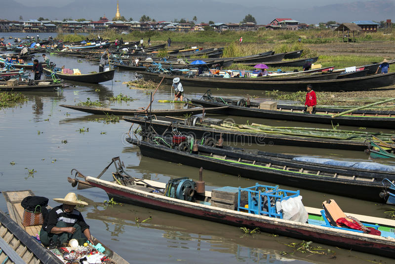 Lago Inle - Myanmar (Burma) fotografia de stock royalty free