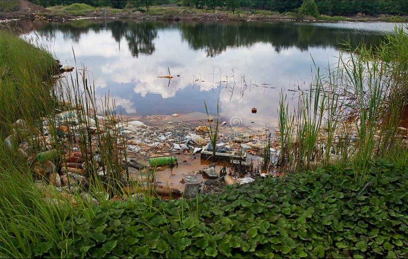 Lago inquinante immagine stock libera da diritti