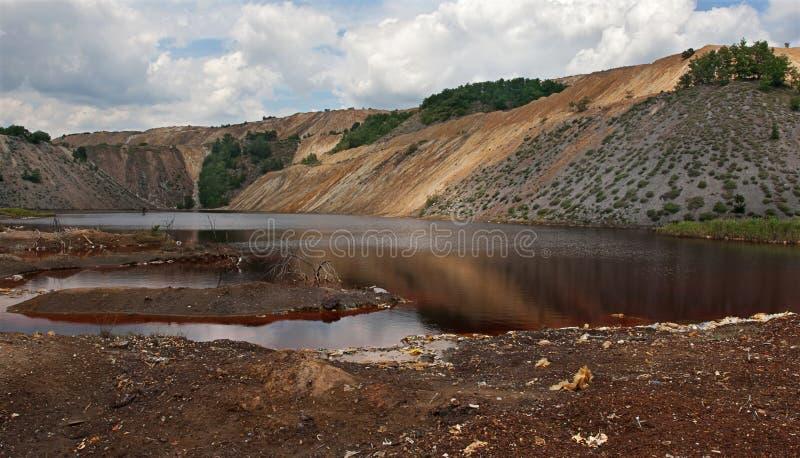 Lago inquinante 3 immagini stock