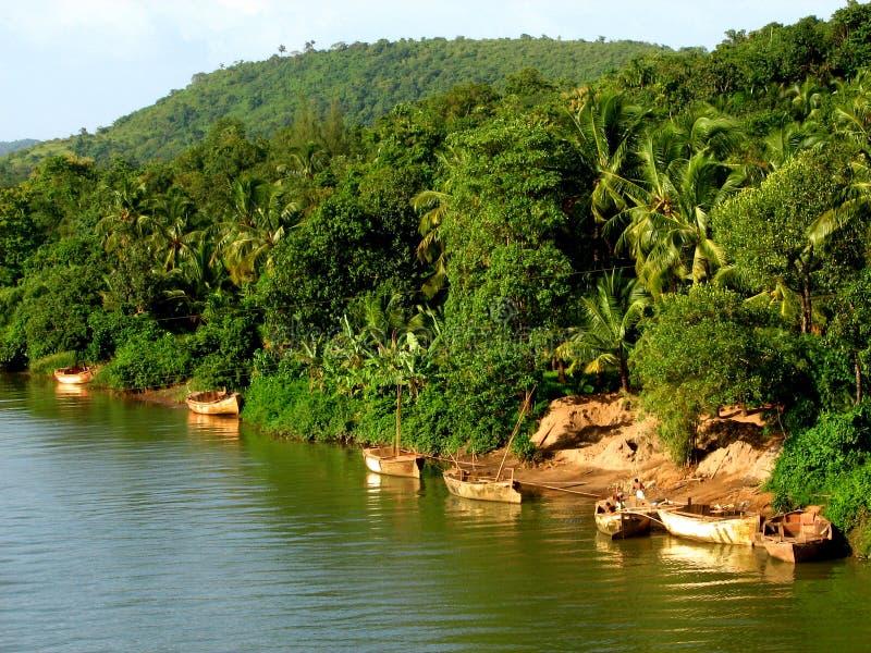 Lago-Io di Dhamapur fotografia stock
