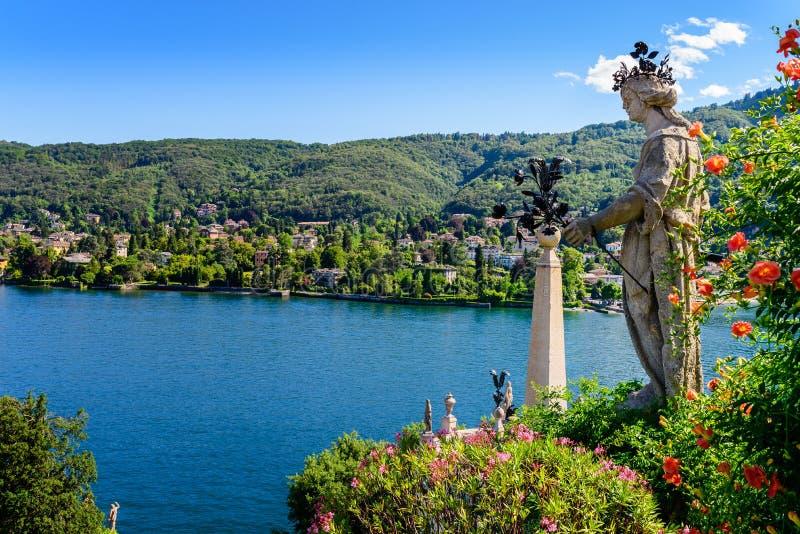 Lago Isolabella Islad Maggiore immagine stock libera da diritti