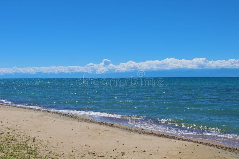 Lago Issyk-Kul mountain fotos de stock royalty free