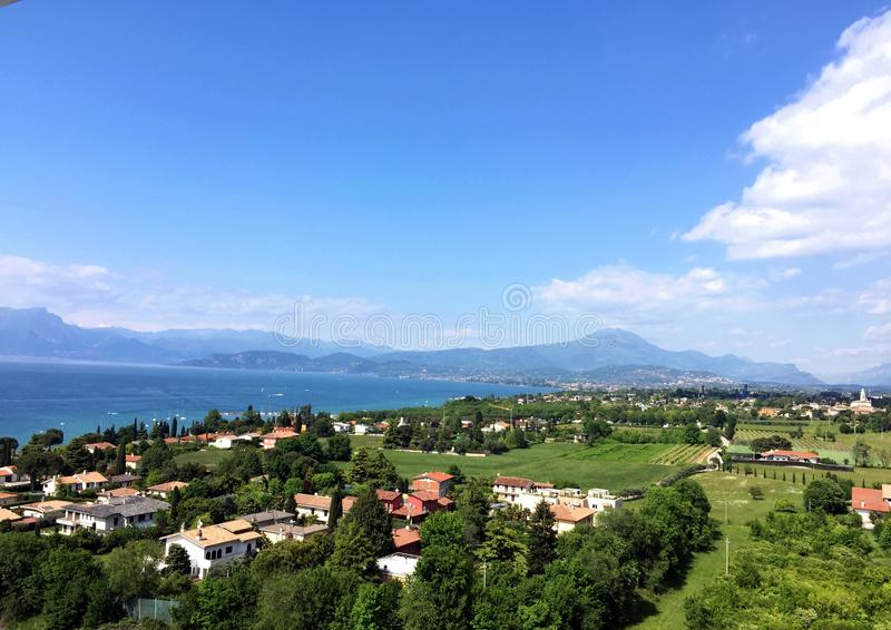 Lago Italia Europa Garda fotografia de stock