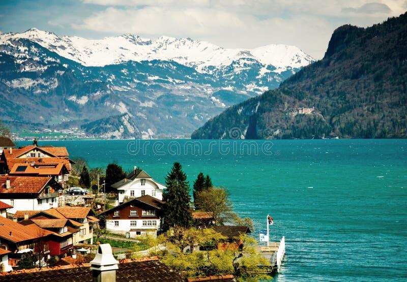Lago italiano Como imagen de archivo