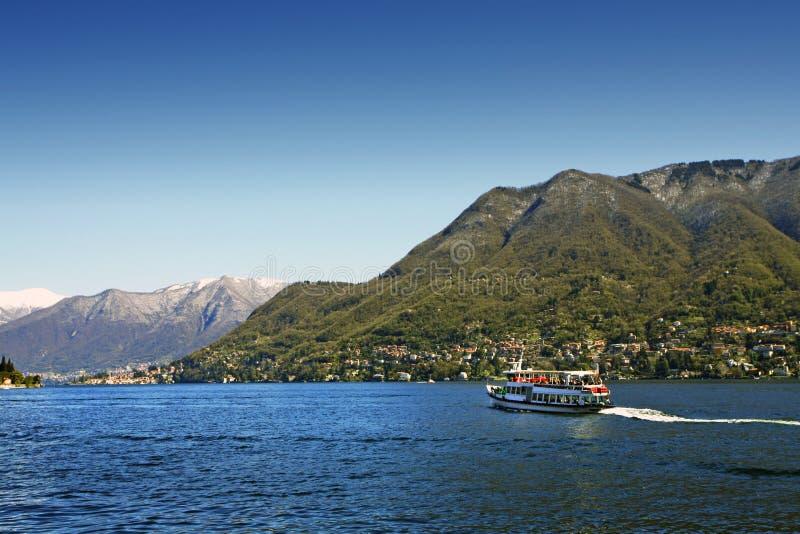 Lago italiano Como foto de archivo