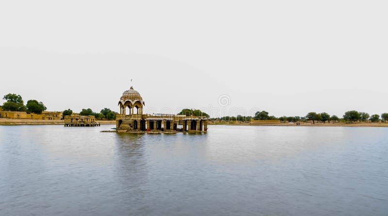 Lago Jaisalmer Gadisar foto de archivo libre de regalías