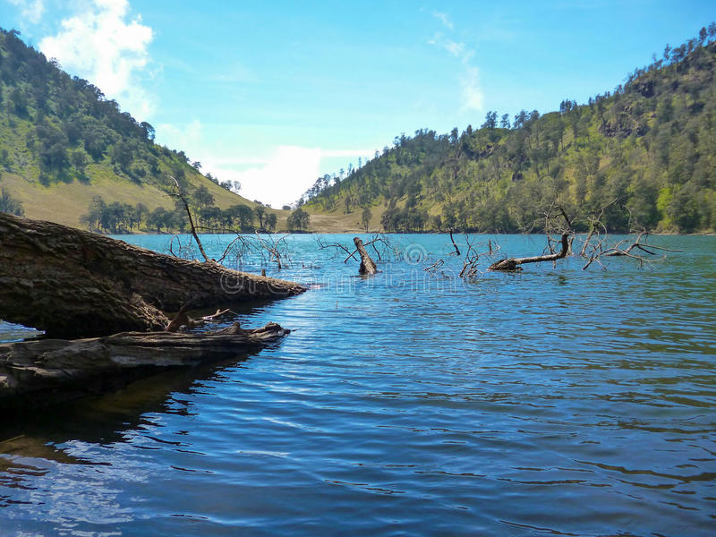 Lago Java Oriental Indonesia Ranukumbolo fotografía de archivo