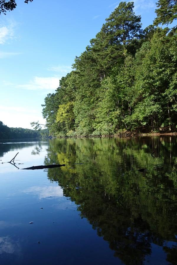 Lago Johnson Park em Raleigh fotos de stock royalty free
