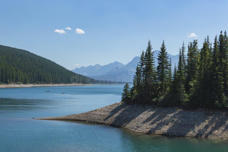 Lago Kananaskis en Rocky Mountains Alberta Canada imagen de archivo libre de regalías