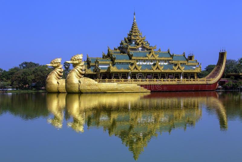 Lago Kandawgyi - Yangon - Myanmar (Burma) fotografia de stock