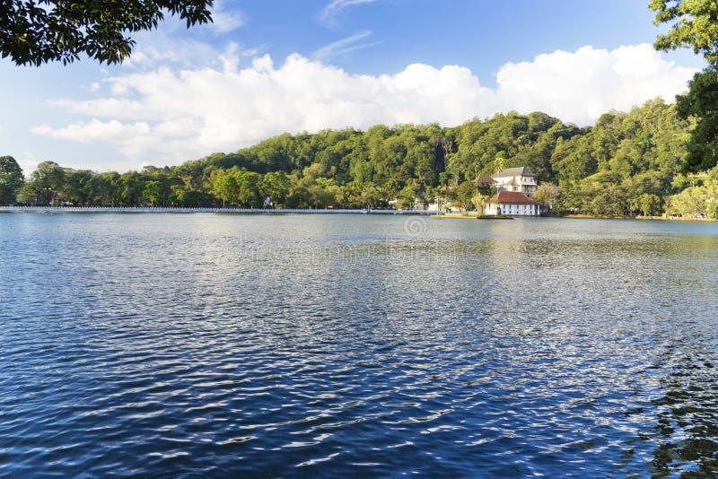 Lago Kandy, Sri Lanka imagem de stock