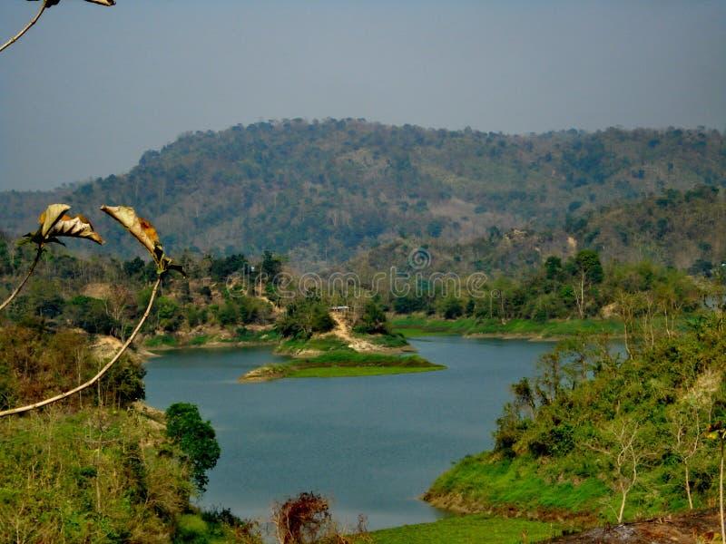 Lago Kaptai, Rangamati, Bangladesh fotografia de stock royalty free