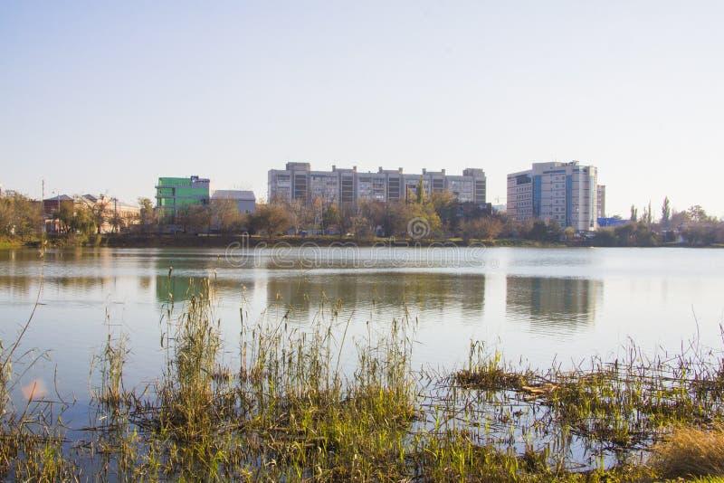 Lago Karasun em Krasnodar imagens de stock royalty free