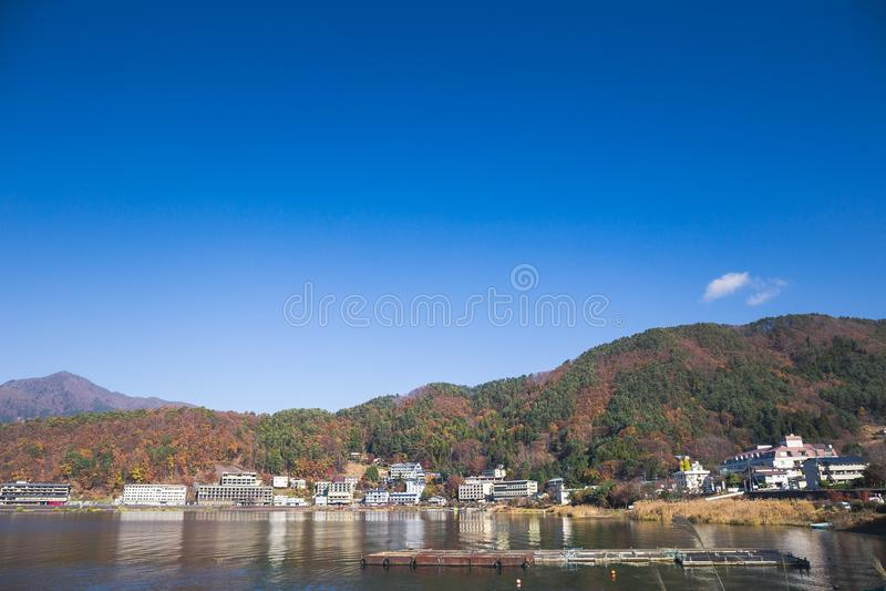 Lago Kawaguchi imagenes de archivo