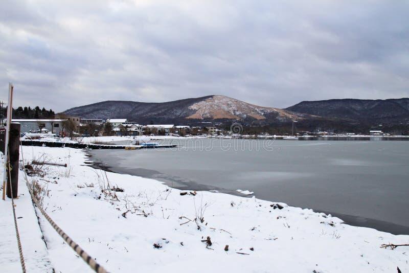 Lago Kawaguchiko immagine stock