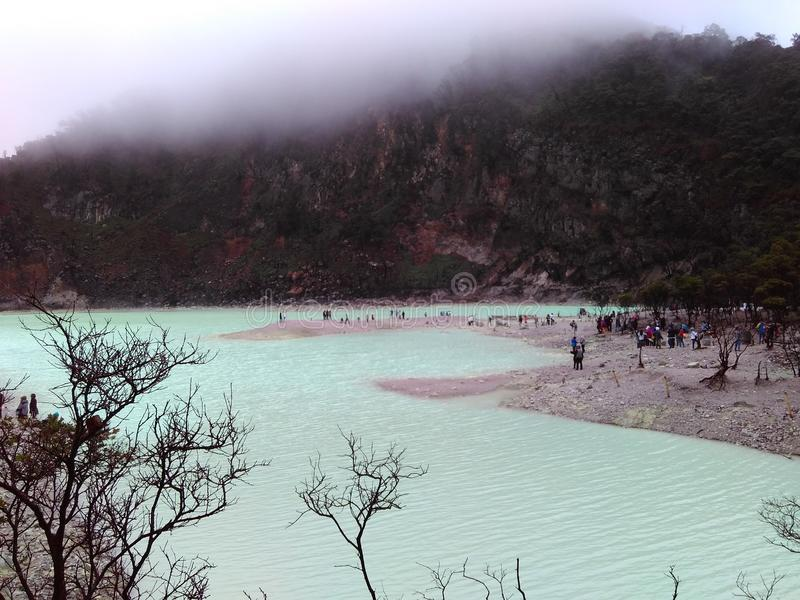 Lago Kawah Putih immagine stock