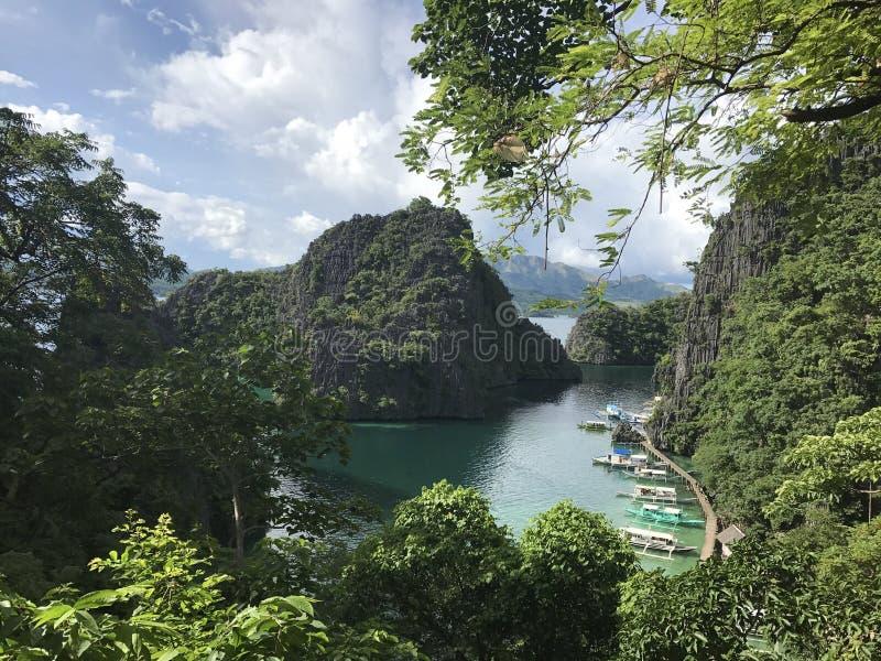 Lago Kayangan fotos de stock royalty free