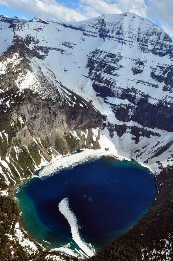 Lago Kennedy. Sosta nazionale del ghiacciaio fotografie stock