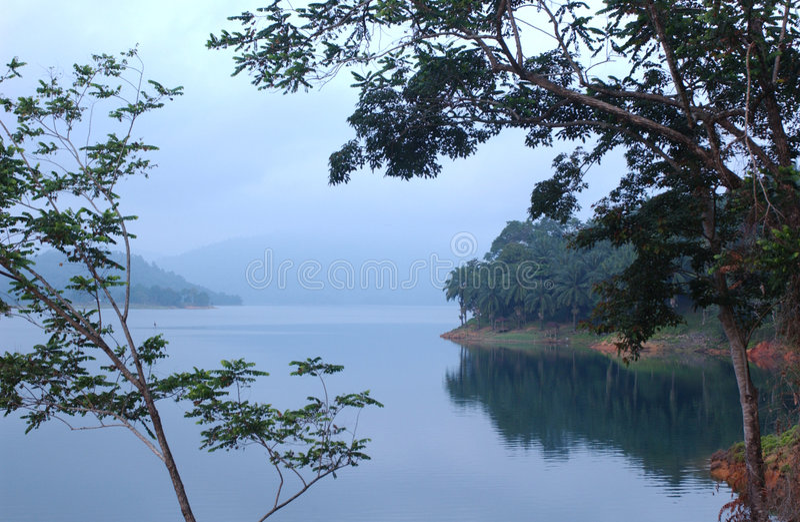 Lago Kenyir fotografia stock