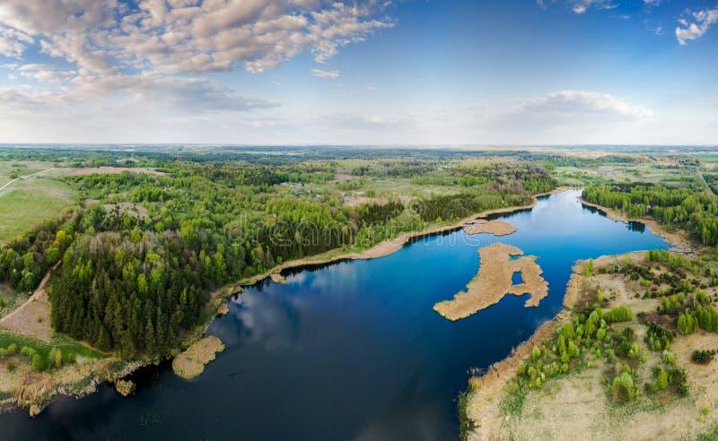 Lago Kernave, aereo immagini stock libere da diritti