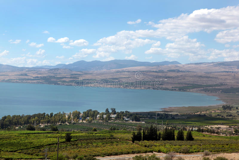 Lago Kinneret l'israele immagine stock
