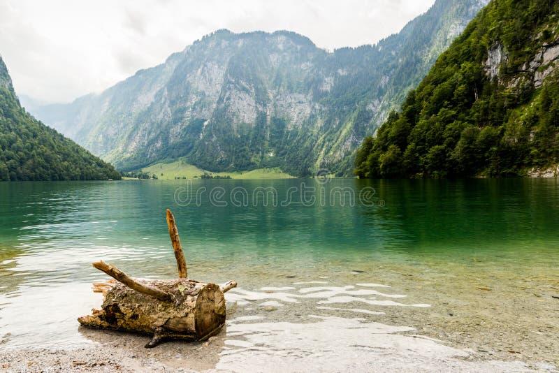 Lago Konigssee, conhecido como o ` o lago o mais profundo e o mais limpo de s de Alemanha imagem de stock