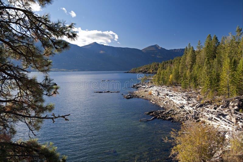 Lago Kootenay, parque perdido da borda imagem de stock