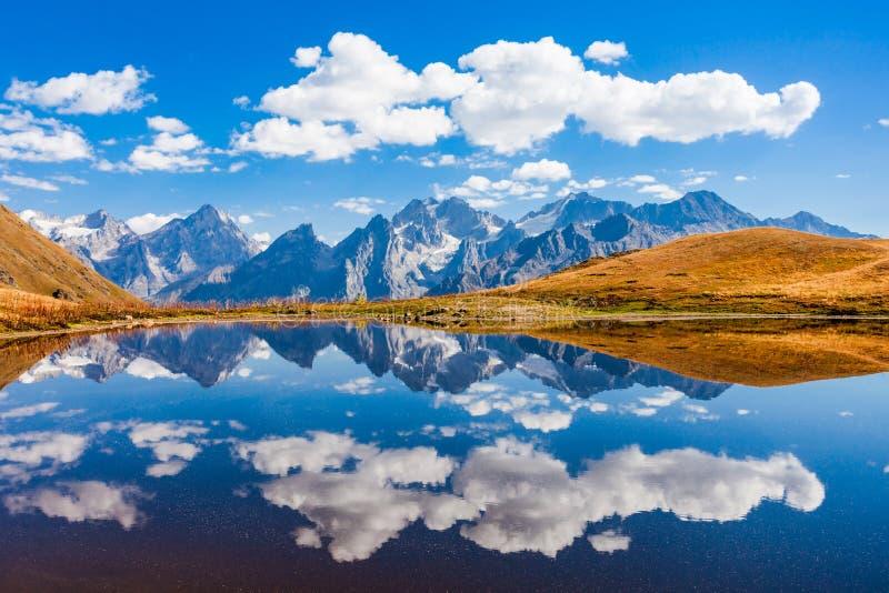 Lago Koruldi, Svaneti fotografia stock libera da diritti