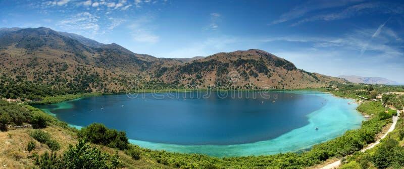 Lago Kourna immagini stock libere da diritti