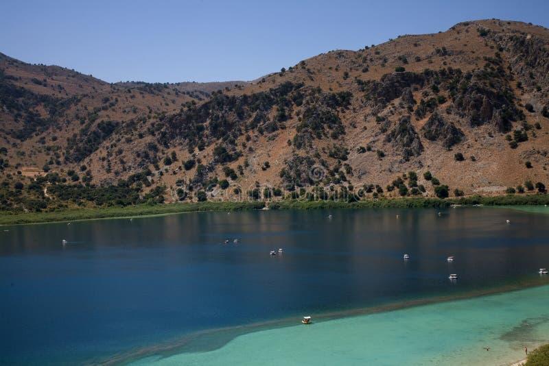Lago Kournas fotografia stock libera da diritti