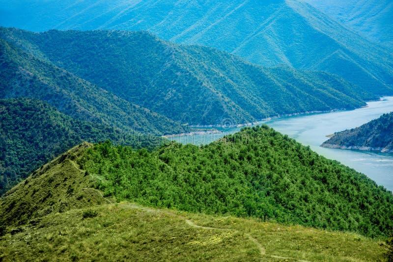 Lago Kozjak en Macedonia fotografía de archivo
