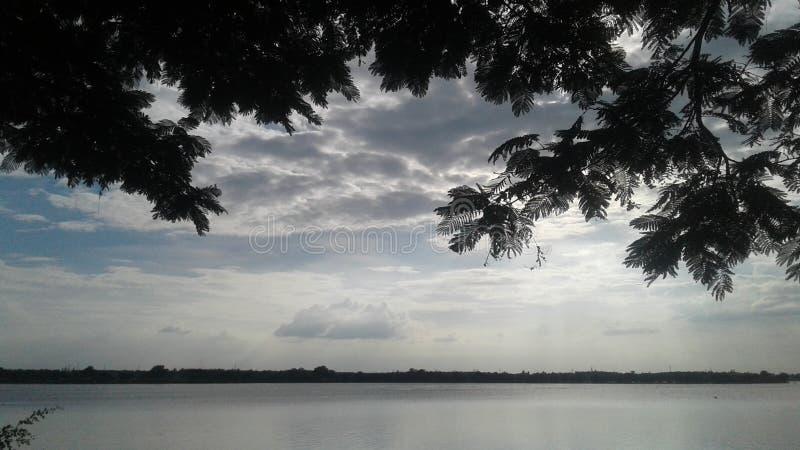 Lago Kundvad a Davanagere fotografia stock libera da diritti