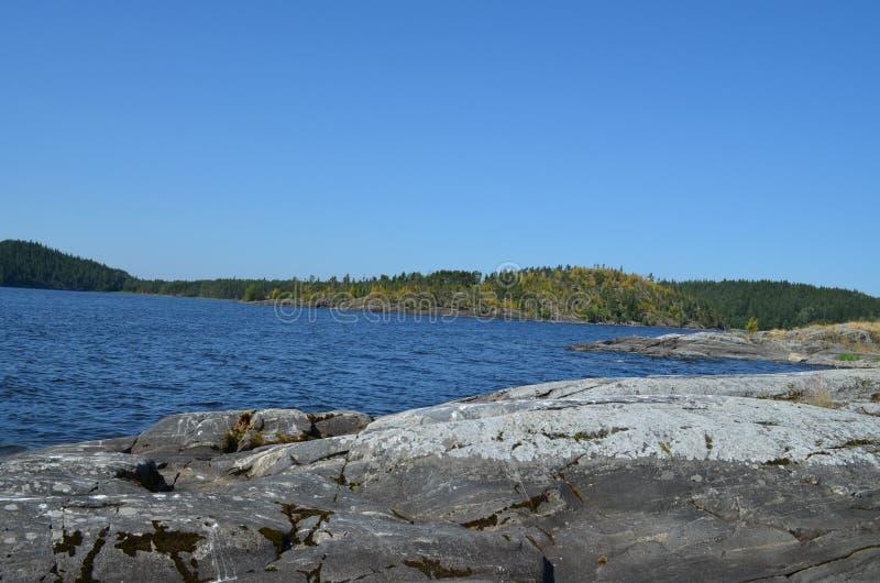 Lago Ladozhskoe imagens de stock