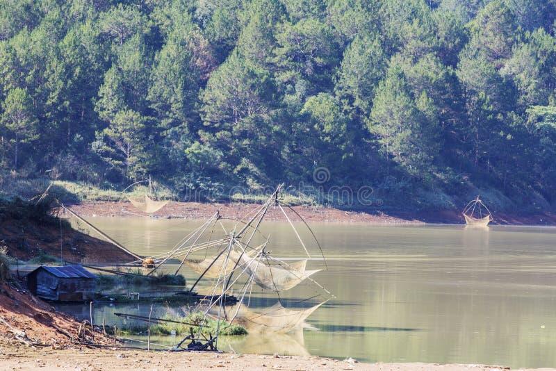 Lago lam di Tuyen di mattina presto fotografie stock libere da diritti