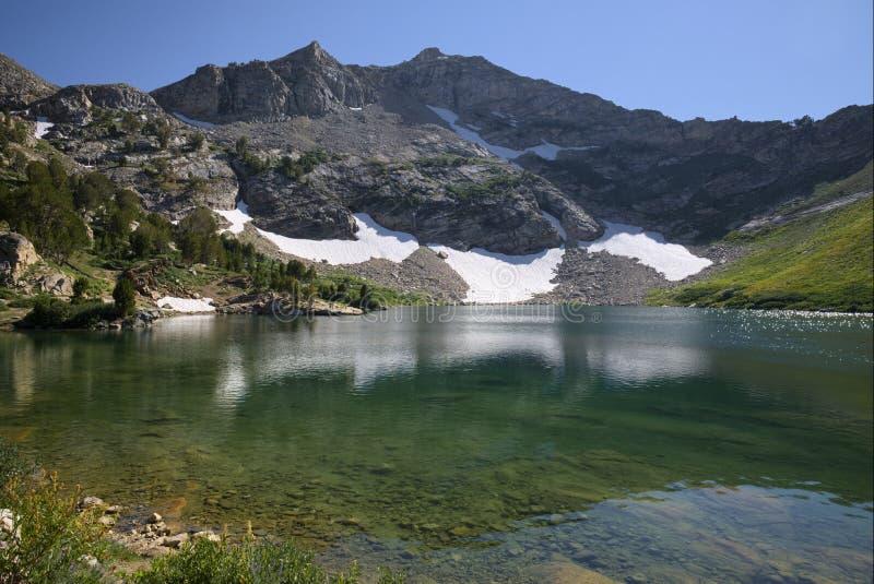 Lago Lamoille em Ruby Mountains imagens de stock