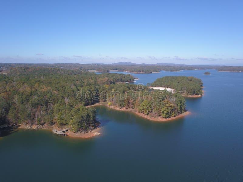Lago Lanier Georgia fotografia de stock