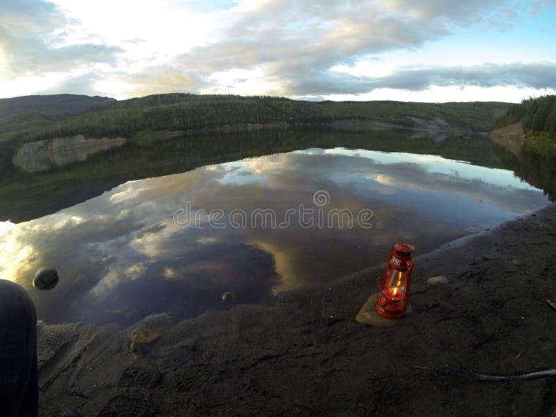 Lago lantern foto de stock