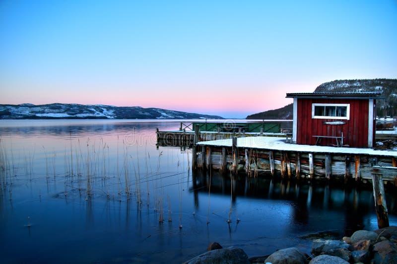 Lago lapland fotografía de archivo
