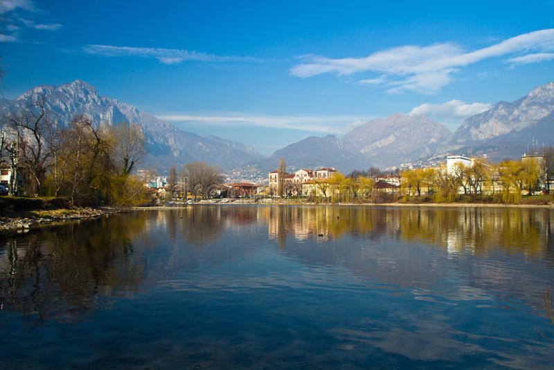 Lago Lecco fotos de archivo
