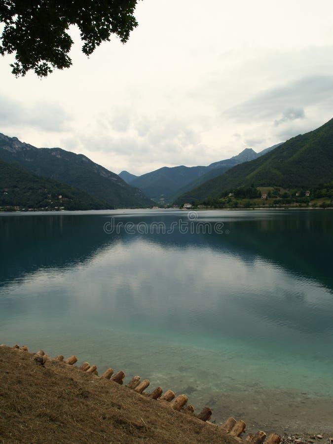 Lago Ledro fotografia stock libera da diritti