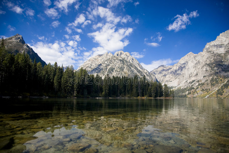 Lago leigh in grande Teton Nati fotografie stock libere da diritti