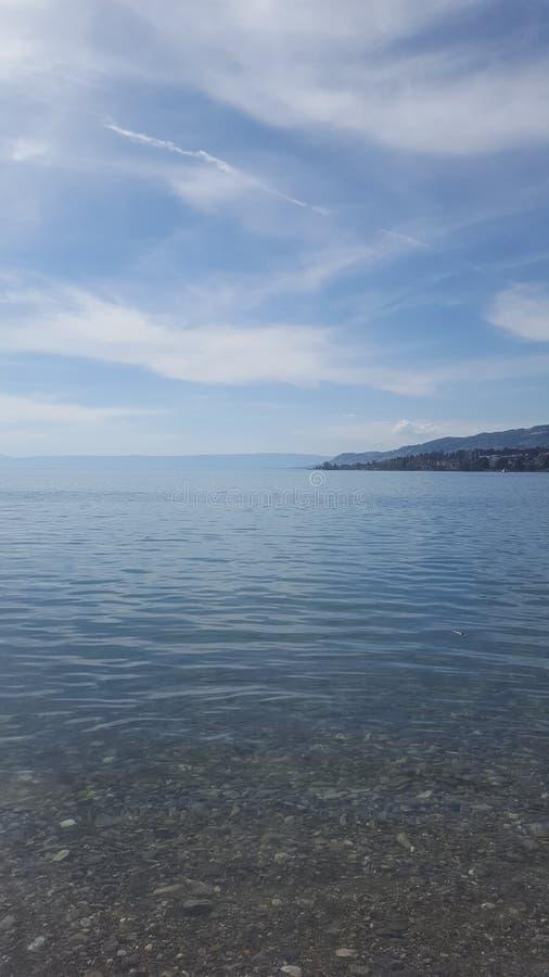 Lago leman fotografie stock