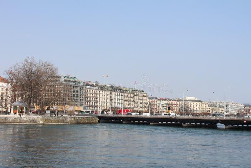 Lago Leman Geneve imagenes de archivo