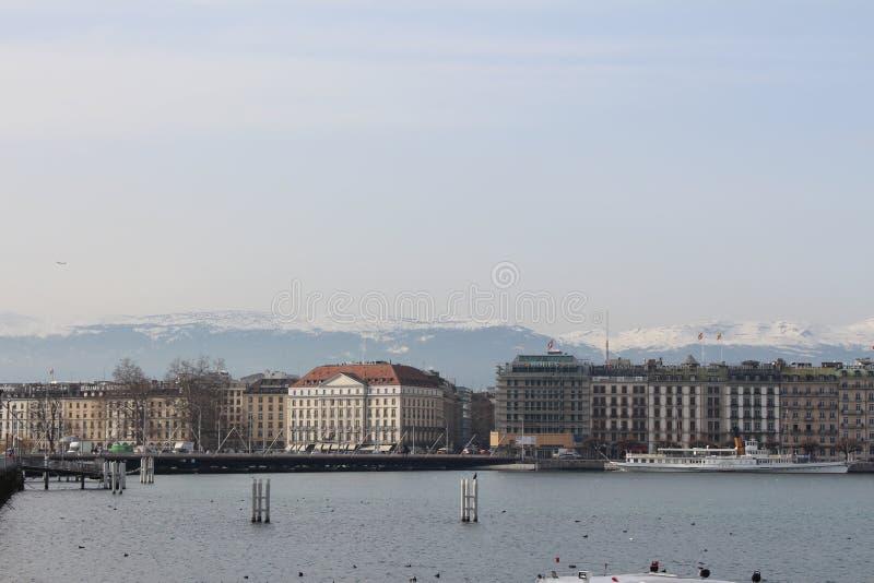 Lago Leman Geneve fotos de archivo libres de regalías