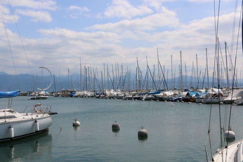 Lago Leman Lausanne imágenes de archivo libres de regalías